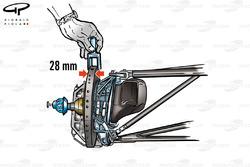 Front brake disc width (28mm)