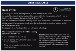 Mercedes AMG F1 driver advert