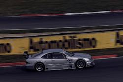 Bernd Schneider und Klaus Ludwig, testen den neuen  Mercedes CLK, HWA AG