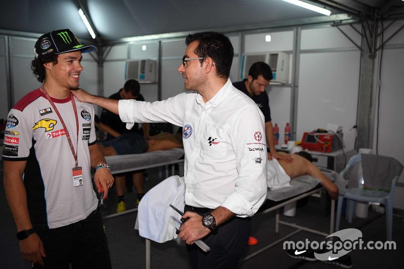 Franco Morbidelli, Marc VDS, avec Michele Zasa, directeur de la Clinica Mobile