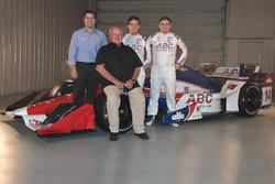 Larry Foyt, A.J. Foyt, Carlos Munoz und Conor Daly mit dem Dallara-Chevrolet von A.J. Foyt Racing