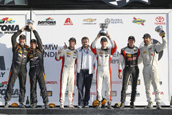 Podium ST: 1. Derek Jones, Mat Pombo, MINI JCW Team; 2. Jeff Mosing, Eric Foss, Murillo Racing; 3. Nick Galante, Spencer Pumpelly, RS1