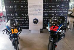 Moto3-Bike von Andrea Migno; Moto2-Bike von Francesco Bagnaia