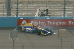 Alexander Rossi, Herta - Andretti Autosport Honda, crash