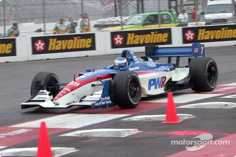 Scott Dixon in the morning warmup session