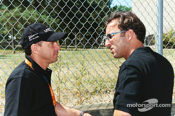 Moreno talks with Calvin Fish