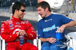 Pole winner Bruno Junqueira with Patrick Carpentier