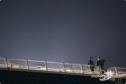 Light over grandstands