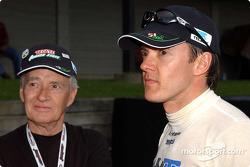 Adrian Fernandez with his dad Adrian Sr.