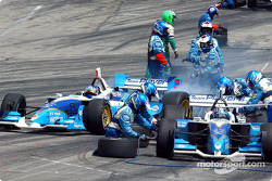 Pitstops for Patrick Carpentier and Paul Tracy