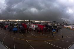 A massive cloud formation over Daytona International Speedway