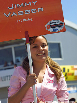 Jimmy Vasser's grid girl