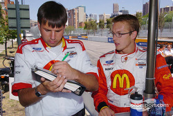 Sébastien Bourdais with his race engineer Craig Hampson