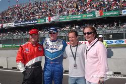 Jimmy Vasser, Paul Tracy, Cristiano da Matta y Emerson Fittipaldi