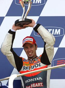 Podium: second place Andrea Dovizioso