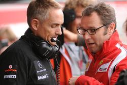 Martin Whitmarsh, Team McLaren and Stefano Domenicali, Scuderia Ferrari Sporting Director talking during FP2