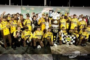 Many fans never got to see Kyle Busch celebrate his win at Kentucky last year
