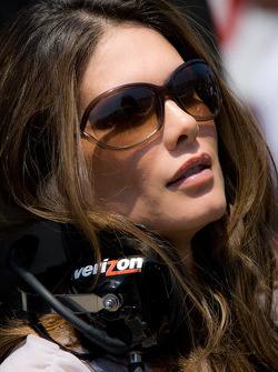 Adriana Henao, wife of Helio Castroneves, Team Penske
