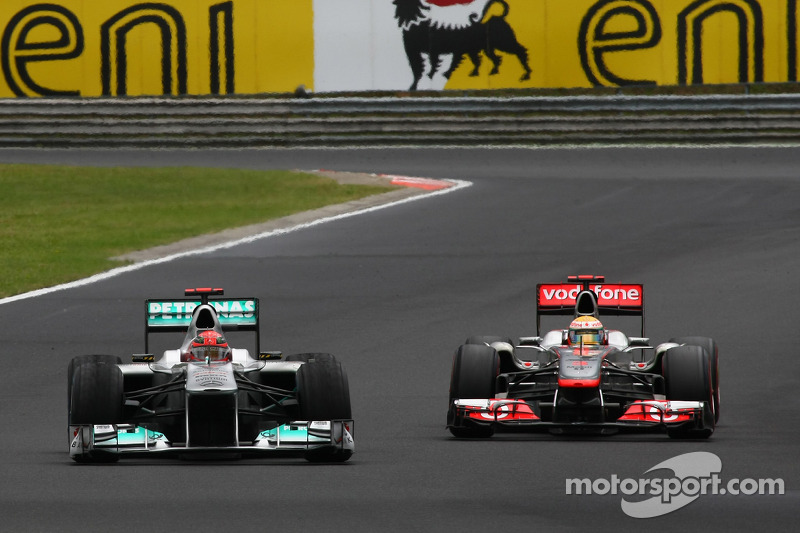 Michael Schumacher, Mercedes GP F1 Team and Lewis Hamilton, McLaren Mercedes