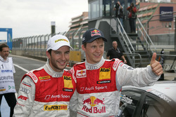 Pole winner Mattias Ekström, Audi Sport Team Abt with third place Mike Rockenfeller, Audi Sport Team Abt