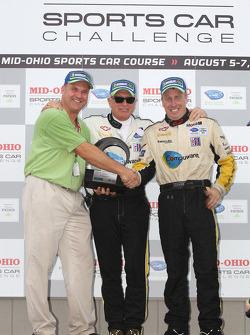 Michelin Green X Challenge podium: GT winners Corvette Racing