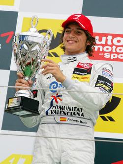 Podium: race winner Roberto Merhi, Prema Powerteam Dallara F308 Mercedes
