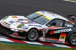 #34 Haruhiracing Hankook Porsche: Hiroshi Takamori, Michael Kim