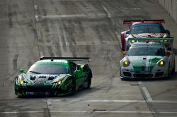 #02 Extreme Speed Motorsports Ferrari F458 Italia: Ed Brown, Guy Cosmo, #54 Black Swan Racing Porsche 911 GT3 Cup: Tim Pappas, Jeroen Bleekemolen