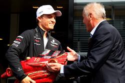 Nico Rosberg, Mercedes GP F1 Team recieves the Bandini Trophy
