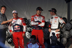 Sébastien Loeb, Sébastien Ogier et Petter Solberg