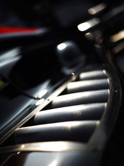Air vent Detail on the side pod of the car of Adrian Quaife