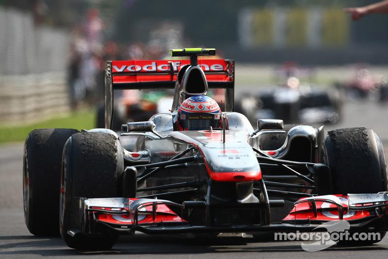 Second place Jenson Button, McLaren Mercedes