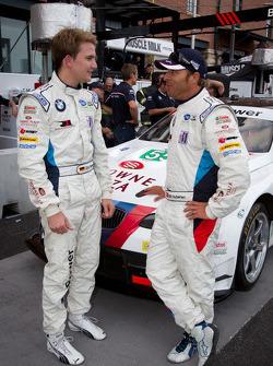 Pole winner Dirk Werner with Bill Auberlen