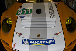 Detail of #911 Porsche Motorpsorts North America Porsche GT3R Hybrid: Romain Dumas, Richard Lietz