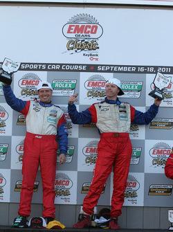 GT podium: class winners Ronnie Bremer and Robin Liddell