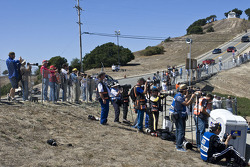 Fans and pro photographers waiting for the start