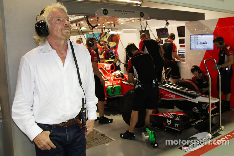 Sir Richard Branson and Jerome d'Ambrosio, Marussia Virgin Racing