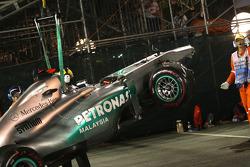 Mercedes von Michael Schumacher nach Crash
