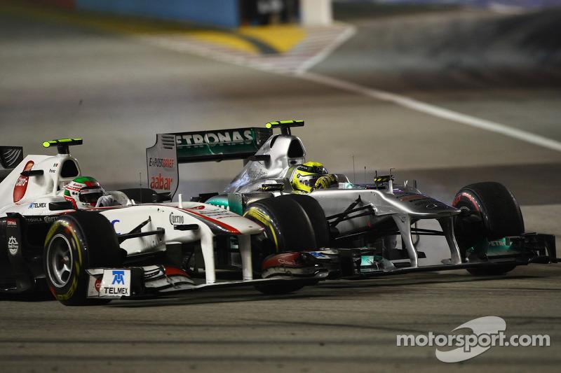 Sergio Pérez, Sauber F1 Team y Nico Rosberg, Mercedes GP F1 Team