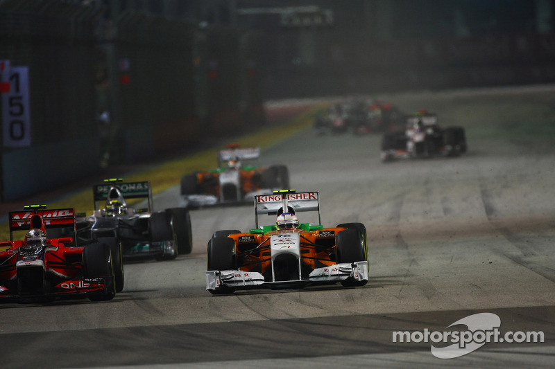 Jerome d'Ambrosio, Marussia Virgin Racing and Paul di Resta, Force India F1 Team