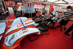 Oak Racing paddock