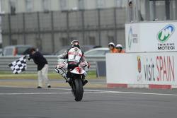 Jorge Lorenzo celebrates segundo lugar