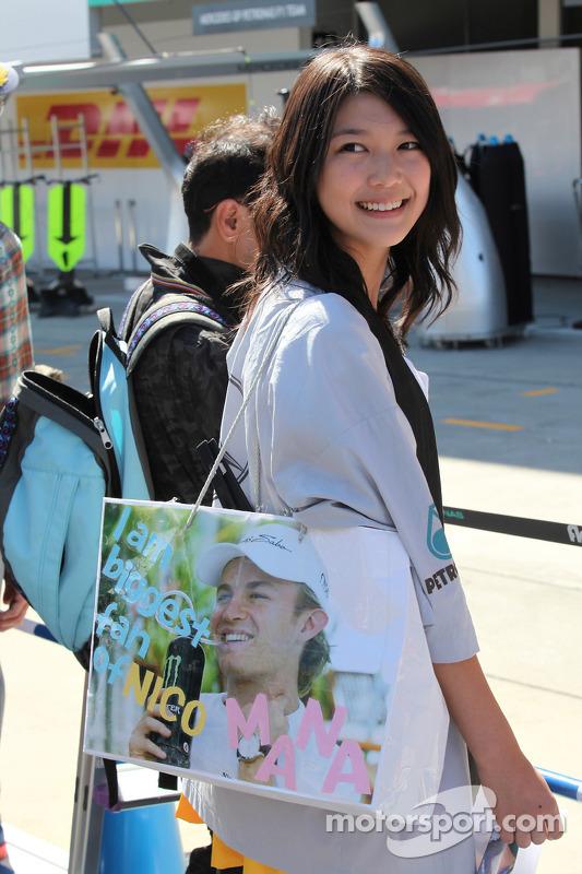Nico Rosberg, Mercedes GP F1 Team fan