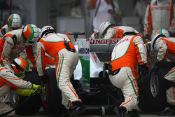 Adrian Sutil, Force India F1 Team  pit stop