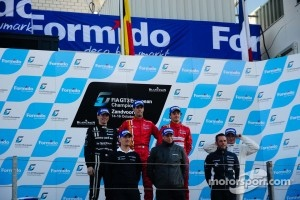 FIA GT3 Europe - overall drivers champions Federico Leo/Francesco Castellacci, runner up Mike Parisy and 3rd place Enzo Ide