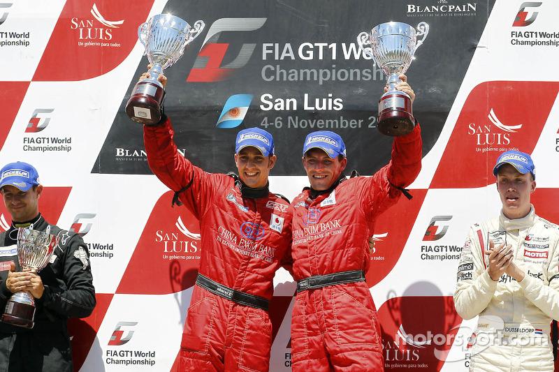 Podium: race winners Francesco Pastorelli and Yelmer Buurman