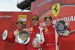 Trofeo Pirelli Ferrari North America Challenge race 2 podium