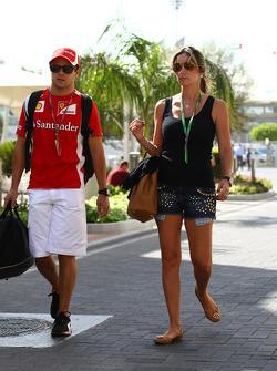 Felipe Massa, Scuderia Ferrari and Rafaela Bassi, Wife of Felipe Massa