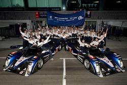 Team Peugeot Sport Total celebrate