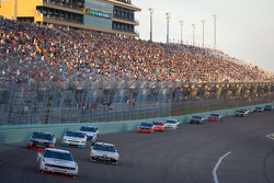 Brad Keselowski, Penske Racing Dodge leads Ricky Stenhouse Jr., Roush-Fenway Ford